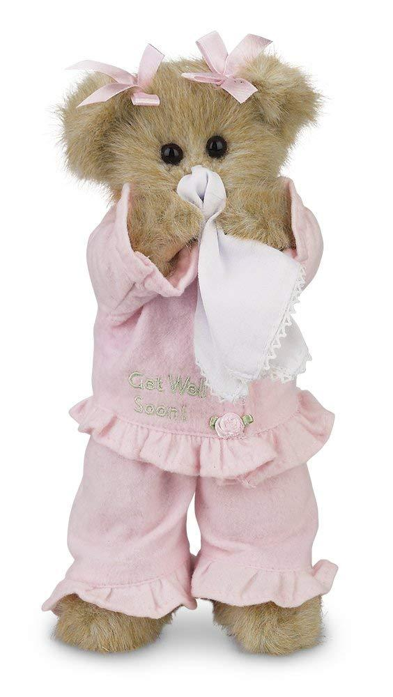 Bearington - Sicky Vicky Get Well Soon Stuffed Animal Teddy Bear, 10 Inches
