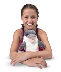 Melissa & Doug - Skimmer Dolphin Stuffed Animal [Home Decor]- Olde Church Emporium