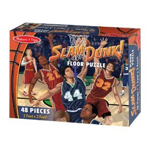 Melissa and Doug - 48 Piece Slam Dunk Floor Puzzle - 2 x 3 Feet [Home Decor]- Olde Church Emporium
