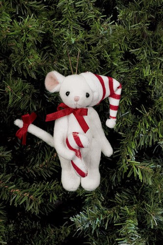 Bearington - Sweetie McSqueaky Miniature Christmas Plush Bear 4.5 Inches and Retired - Olde Church Emporium