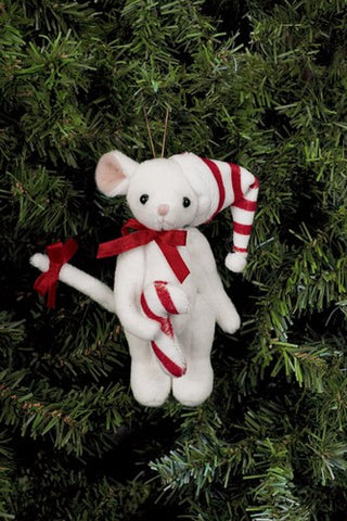 Bearington - Sweetie McSqueaky Miniature Christmas Plush Bear 4.5 Inches and Retired