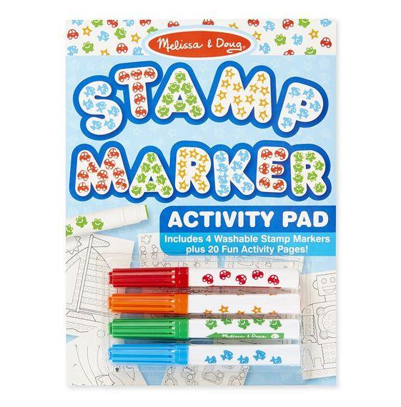 Melissa and Doug - Stamp Markers and Activity Pad - Stars, Fish, Cars, and Frogs