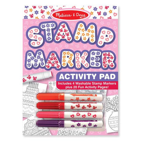 Melissa and Doug - Stamp Markers and Activity Pad - Butterflies, Hearts, Flowers, and Stars