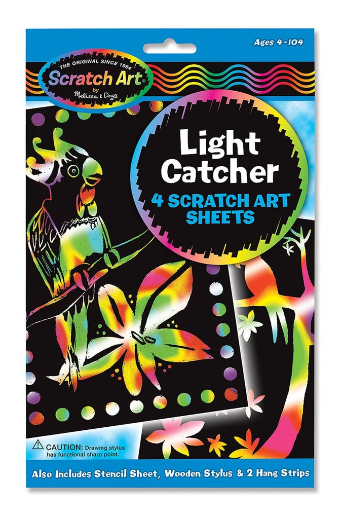 "Melissa and Doug Scratch Art Magic Scratch-Lite ""Stained Glass""4 Sheets Ages 5 to 95 [Home Decor]- Olde Church Emporium"