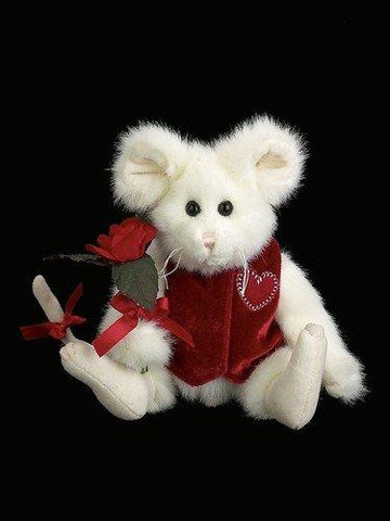 Bearington - Smitten McSqueaken Plush Valentines Mouse Bear 8 Inches and Retired
