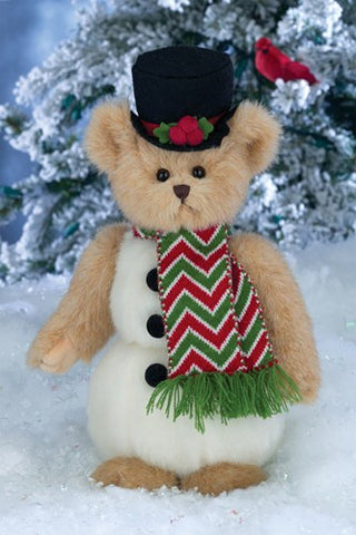 "Bearington - Christmas Holiday Bear ""Snowden"" - 10 Inches and Retired"