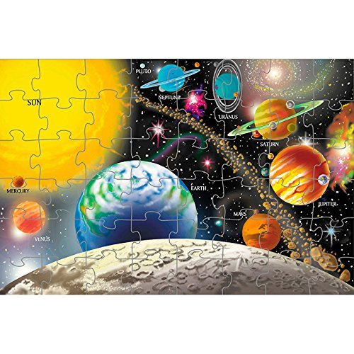 Melissa and Doug 48 piece Solar System Extra Large Floor Puzzle - 2 x 3 Feet [Home Decor]- Olde Church Emporium