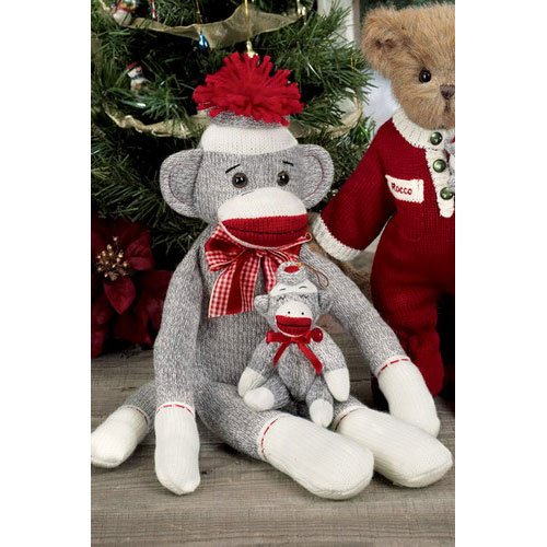 Bearington - Sock Monkey 14 Inches and Retired - Olde Church Emporium