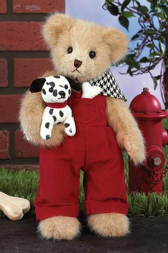 Bearington - Spencer and Spots Handmade Plush Teddy Bear 14 Inches and Retired - Olde Church Emporium