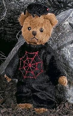 Bearington - Spinner Miniature Halloween Spider Web Plush Bear 5 Inches and Retired