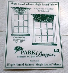 Park Designs - Berry Vine Valances and Swags   2 Colors Black Red