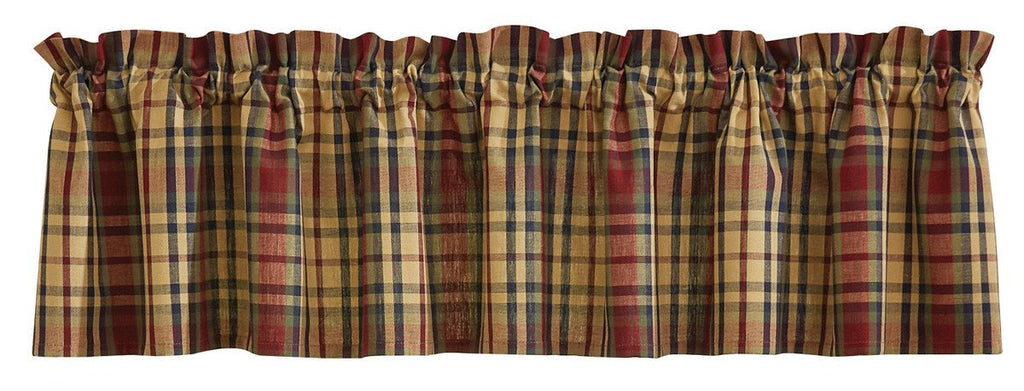 Park Designs South River Unlined Plaid Valance 72  x 14 Inches - Olde Church Emporium