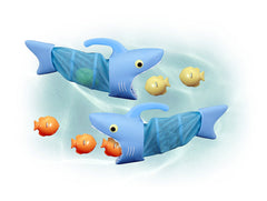 Melissa & Doug - Sunny Patch Spark Shark Fish Hunt Pool Game With 2 Nets and 6 Fish to Catch [Home Decor]- Olde Church Emporium