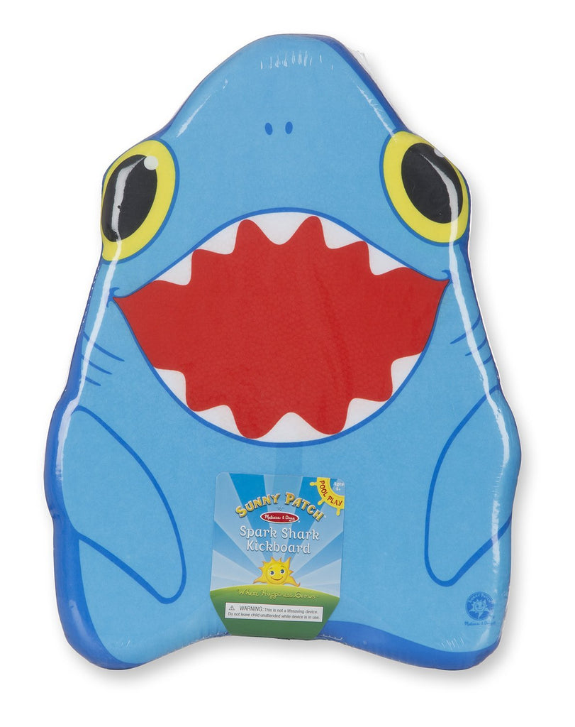 Melissa & Doug - Sunny Patch Spark Shark Kickboard Learn-to-Swim Pool Toy [Home Decor]- Olde Church Emporium