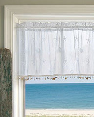 sand shell valance with trim