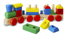 Melissa & Doug Stacking Train - Classic Wooden Toddler Toy (18 pcs) [Home Decor]- Olde Church Emporium