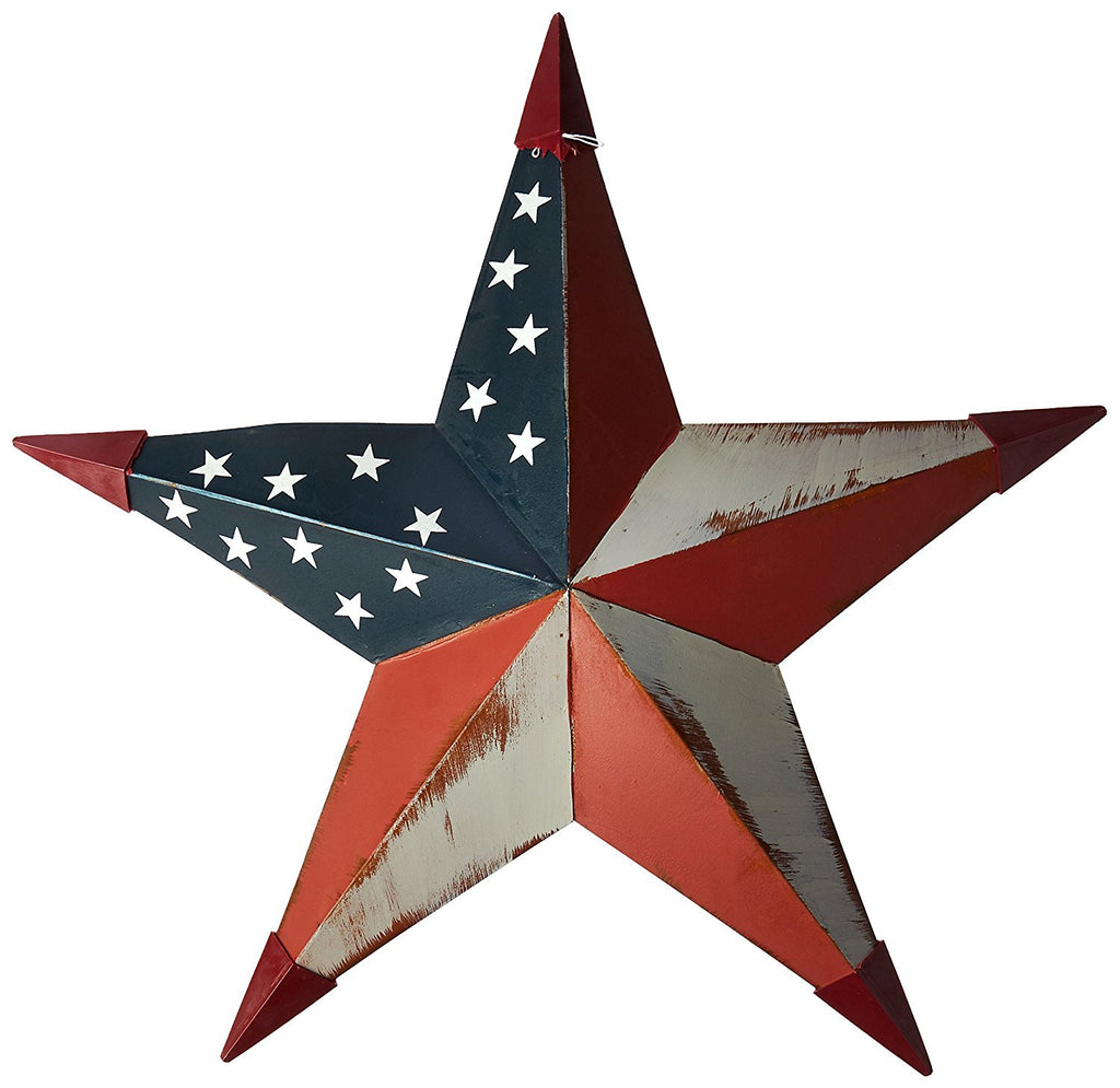 Americana Metal Barn Star Wall Decor, 18-Inches - Olde Church Emporium
