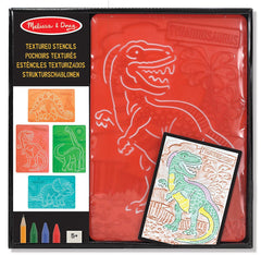 Melissa & Doug Textured Stencils - Dinosaurs, 4-Pack of Stencil-and-Rubbing Plates [Home Decor]- Olde Church Emporium