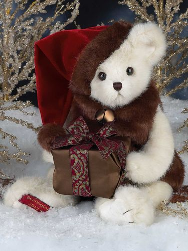 "Bearington - Christmas Holiday Limited Edition Musical Bear"" Saint Nicholas"" - 18 Inches Retired - Olde Church Emporium"