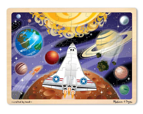 Melissa & Doug  48 Piece Space Voyage Wooden Jigsaw Puzzle With Storage Tray Ages 4+
