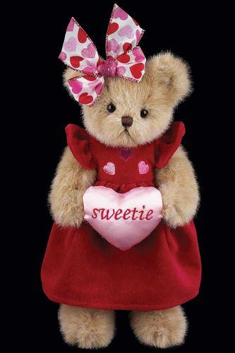 Bearington - Sweetie Heart Plush Valentines Bear 10 Inches and Retired - Olde Church Emporium