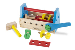 Melissa & Doug - Take-Along Tool Kit Wooden Construction Toy (24 pcs) [Home Decor]- Olde Church Emporium