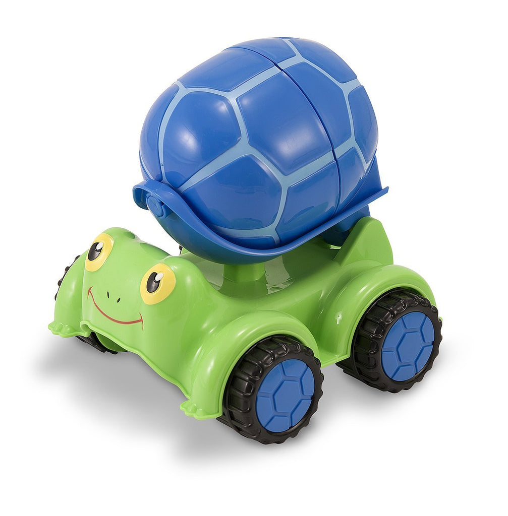 Melissa & Doug - Sunny Patch Scootin' Turtle Cement Mixer Vehicle Toy [Home Decor]- Olde Church Emporium