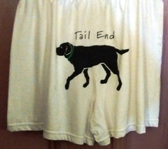 Hatley Tail End Briefs 3 Sizes Small, Medium, Large, Cream Color, Black Labrador