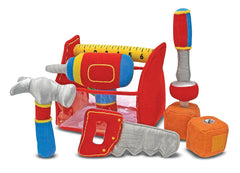 Melissa & Doug - Toolbox Fill and Spill Toddler Toy With Vibrating Drill (9 pieces) [Home Decor]- Olde Church Emporium