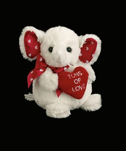 Bearington - Tons of Love Valentines Plush Elephant 6 Inches and Retired - Olde Church Emporium