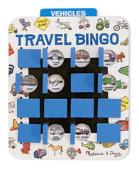 Melissa & Doug - Flip to Win Travel Bingo Game - 2 Wooden Game Boards, 4 Double-Sided Cards - Olde Church Emporium