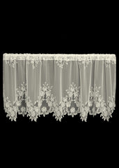 Heritage Lace - Tea Rose Collection - Curtains and Tabletop Accessories in White and Ecru