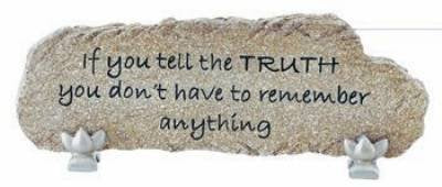 "Carson Home Accents ""Truth"" Heart Notes Stone Bar Desktop Sign"