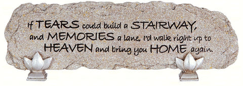 "Carson Home Accents ""Tears"" Heart Notes Stone Bar Desktop Sign"