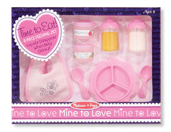 "Melissa & Doug - Mine to Love ""Time to Eat"" Doll Accessories Feeding Set (8 pieces) [Home Decor]- Olde Church Emporium"