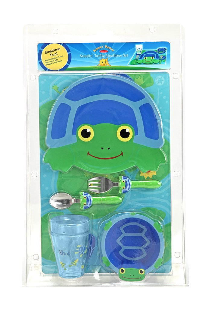 Melissa & Doug - Scootin' Turtle Mealtime Set [Home Decor]- Olde Church Emporium