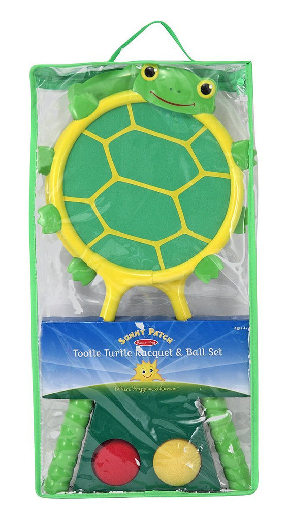 Melissa & Doug - Sunny Patch Tootle Turtle Racquet and Ball Bouncing Game Set [Home Decor]- Olde Church Emporium