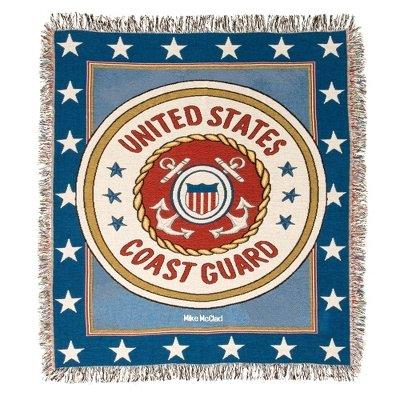 Coast Guard Tapestry Throw 50 x 60 inches Made in USA
