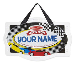 Melissa & Doug - Wooden Door Plaque: Vehicles - Personalized Name Door Sign [Home Decor]- Olde Church Emporium