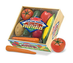 Melissa & Doug - Playtime Produce Vegetables Play Food Set With Crate (7 pieces) [Home Decor]- Olde Church Emporium