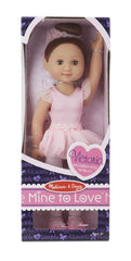Melissa & Doug - Victoria 14-Inch Poseable Ballerina Doll With Leotard and Tutu [Home Decor]- Olde Church Emporium