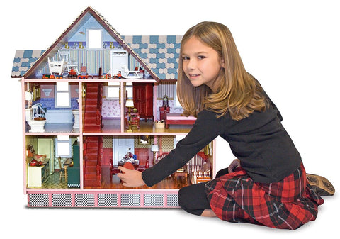 Melissa & Doug - Classic Heirloom Victorian Wooden Dollhouse