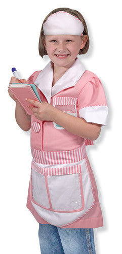 Waitress Role Play Costume Set 3 to 6 years old - Olde Church Emporium