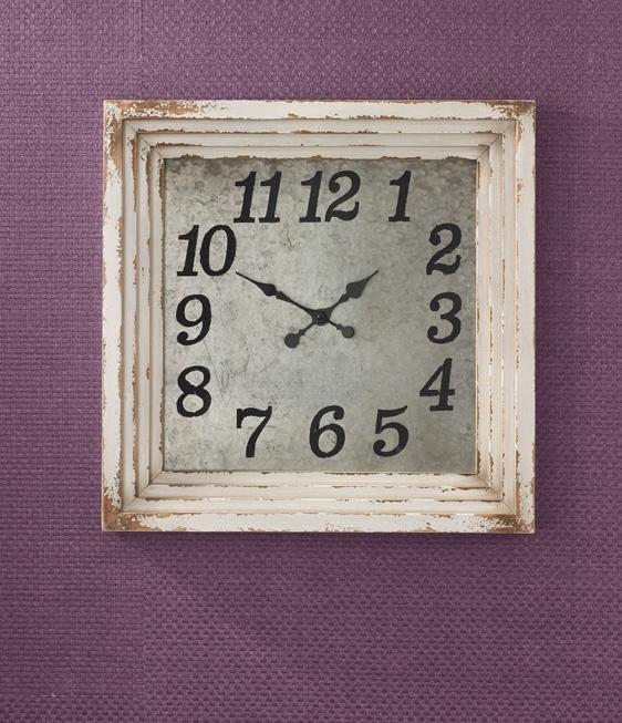 Park Designs - 24-916 Wall Clock 26.5 Inches Square Aged Cream [Home Decor]- Olde Church Emporium