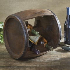 Wood Cask Wine Rack - Olde Church Emporium
