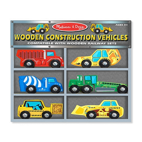 Deluxe Wooden Construction Vehicles Set by Melissa Doug - Olde Church Emporium