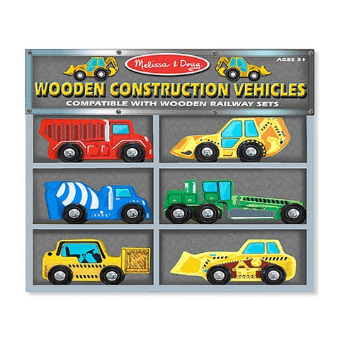 Deluxe Wooden Construction Vehicles Set by Melissa Doug