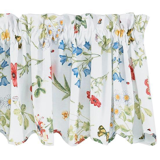 Park Designs Wildflower Unlined Scalloped Valance 72 x 14 Inches Floral - Olde Church Emporium