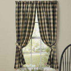 Park Designs Black Wicklow Window Curtain Collection - Valance, Swags, Tiers, Panels, Shower Curtain - Olde Church Emporium