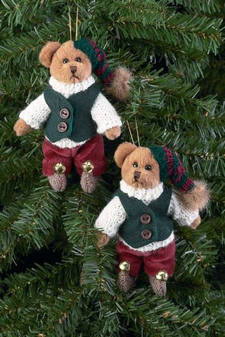 Bearington - Willie Evergrow Miniature Christmas Plush Bear 4.5 Inches and Retired